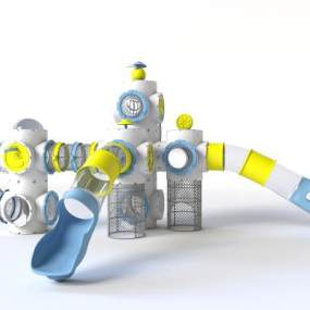 現代兒童滑梯3D模型【ID:952185928】