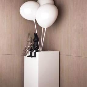 现代雕塑艺术摆件3D模型【ID:353448178】
