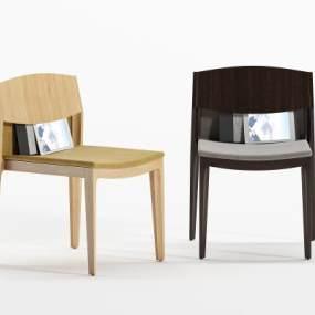 现代实木单椅3D模型【ID:753292009】