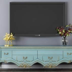 現代電視機柜3D模型【ID:948100933】