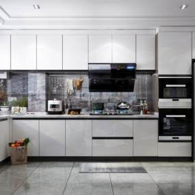 现代风格厨房3D模型【ID:544672376】
