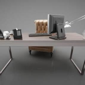 現代風格書桌3D模型【ID:847421893】