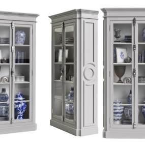 古典餐边柜3D模型【ID:147055142】