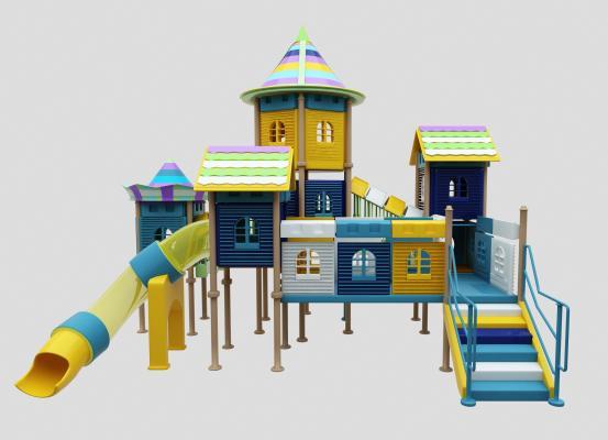 現代兒童滑梯3D模型【ID:437130169】