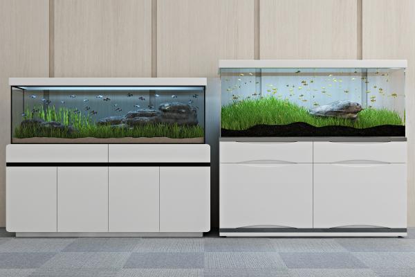 現代生態魚缸3D模型【ID:340587617】