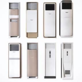 现代柜式立式空调组合3D模型【ID:245247670】