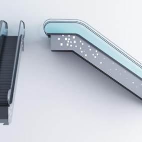 现代商场自动扶梯3D模型【ID:332862435】