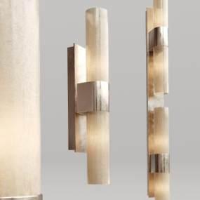 現代金屬水晶壁燈3D模型【ID:734775947】