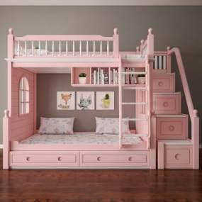 美式儿童床 3D模型【ID:836233814】