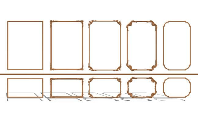 歐式石膏線條組合SU模型【ID:448466051】