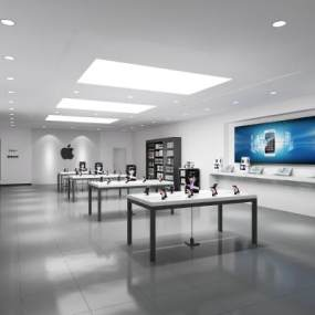 现代苹果手机店3D模型【ID:952821806】