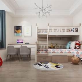 現代兒童房3D模型【ID:534790226】