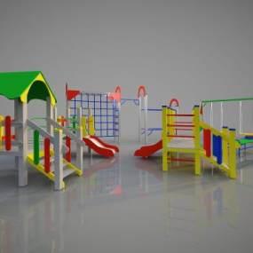 现代儿童游乐设备3D模型【ID:434803149】