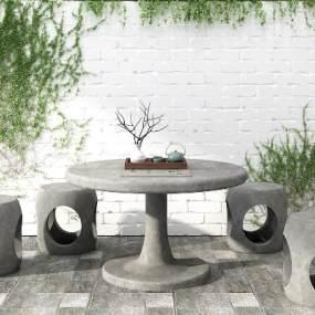 新中式景观植物组合3D模型【ID:253320809】