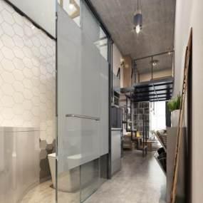现代风格酒店公寓3D模型【ID:743569306】