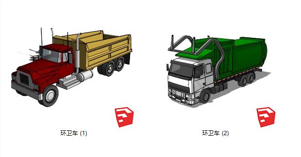 現代環衛車卡車SU模型【ID:252122265】