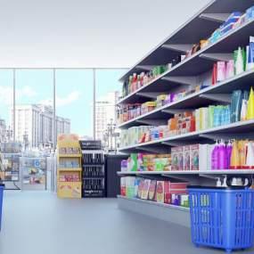 现代超市 3D模型【ID:941521949】