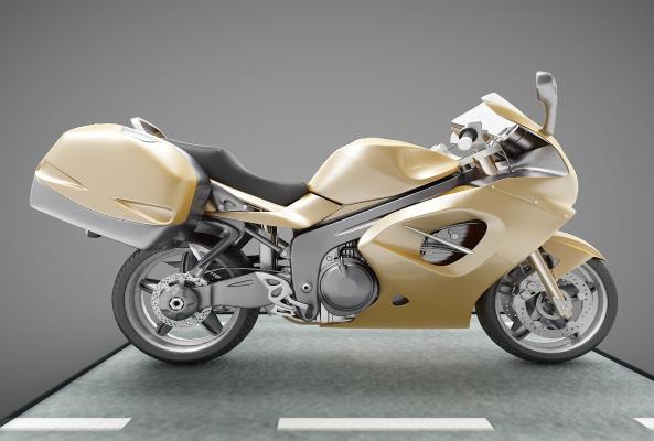 現代風格摩托車3D模型【ID:444530736】