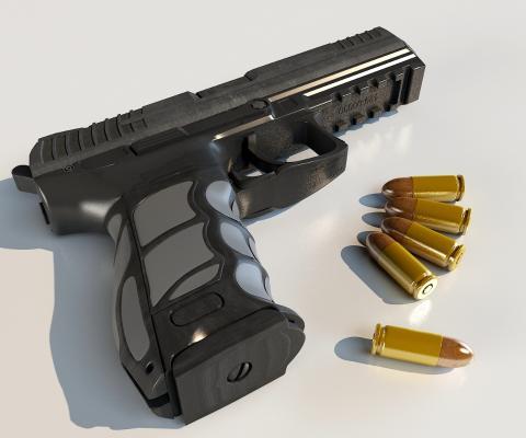 手槍3D模型【ID:440631280】