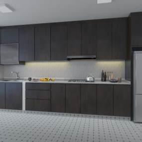 现代厨房3D模型【ID:132831721】