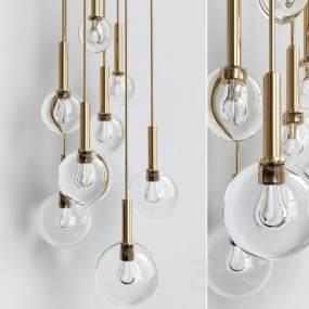 現代吊燈3D模型【ID:743459885】