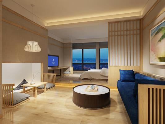 日式酒店客房3D模型【ID:734494323】