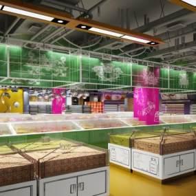 现代超市3D模型【ID:134681199】