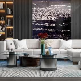现代沙发3D模型【ID:650934713】