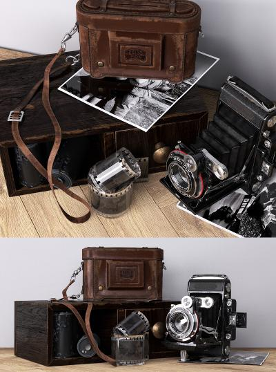 現代復古相機3D模型【ID:245876741】