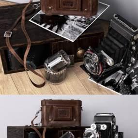 现代复古相机3D模型【ID:245876741】