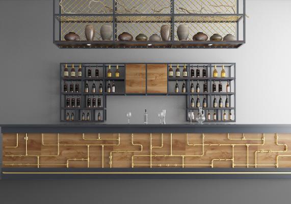 工業風酒吧3D模型【ID:442721029】