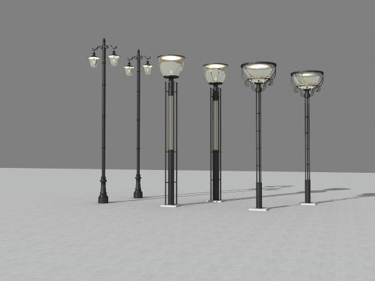 现代路灯3D模型【ID:832332568】