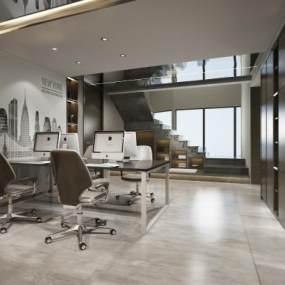 现代办公室3D模型【ID:935834039】