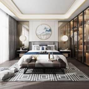 新中式卧室是因��3D快三追号倍投计划表【ID:534445266】
