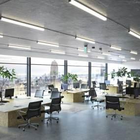 現代辦公室3D模型【ID:951041028】