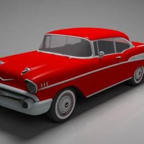 现代红色跑车3D模型【ID:433683748】