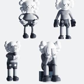 現代kaws公仔玩具組合3D模型【ID:348083435】