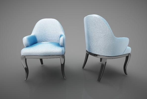 �F代�L※格餐椅3D模型【ID:742114117】
