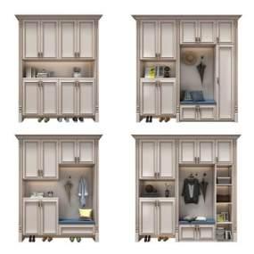 欧式鞋柜3D模型【ID:145456208】