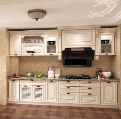 法式厨房 橱柜 描金橱柜