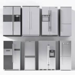现代双门冰箱3D模型【ID:230658638】