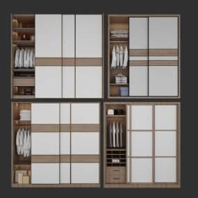 現代衣柜3D模型【ID:146740417】