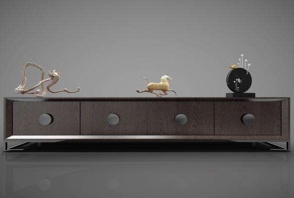 新中式风格装饰柜3D模型【ID:144700147】