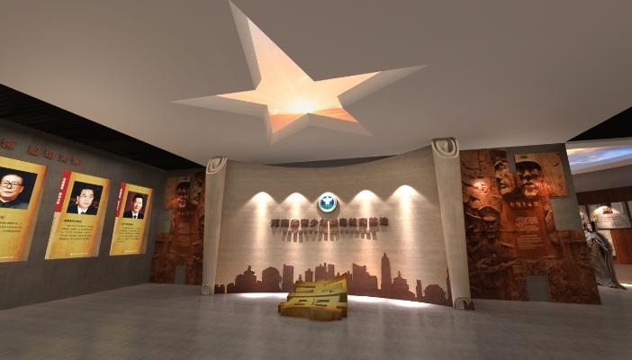 现代禁毒展厅3D模型【ID:944097988】