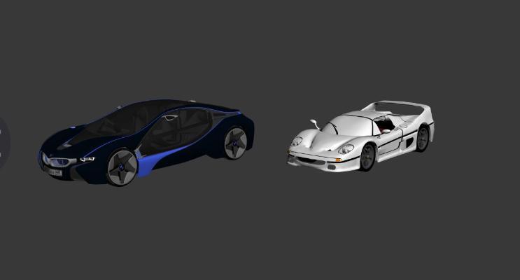 其他两个跑车3D模型【ID:443805722】