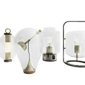 现代台灯组合3D模型【ID:833508186】