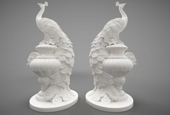現代風格裝飾品3D模型【ID:248659502】