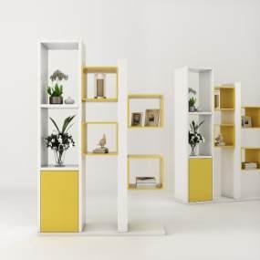 现代玄关柜门厅柜饰品3D模型【ID:135472069】