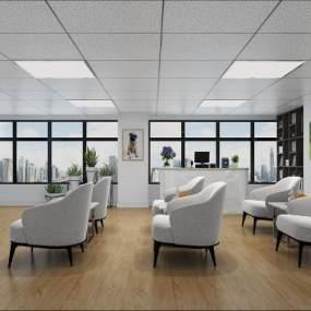 现代宠物医院休息室3D模型【ID:147058278】
