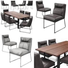 现代餐桌椅3D模型【ID:946425170】